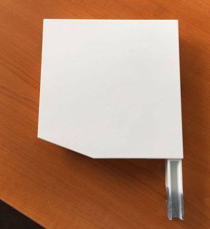 Tokvég (új típusú 165 mm 1 x 20° vakolhatós) alumínium