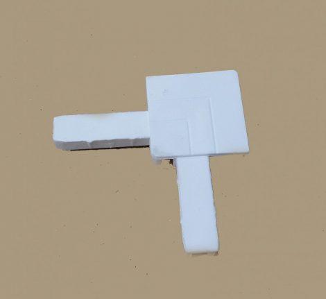 Alumínium peremes szúnyogháló sarok   (fehér)