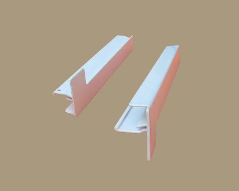 6. Alumínium végzáró, alumínium ablakpárkányhoz (fehér) 50-130 mm
