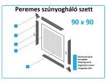 90*90-es alumínium keretes szúnyogháló szett (peremes)
