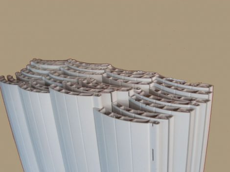 Maxi (55 mm) műanyag redőnyléc kötegelve  185-ös  (fehér)
