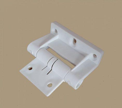Műanyag zsanér szúnyogháló ajtóhoz  (fehér)