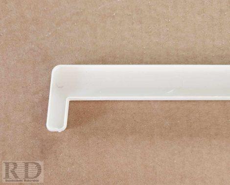 1. Párkány végzáró, kamrás műanyag párkányhoz (fehér)