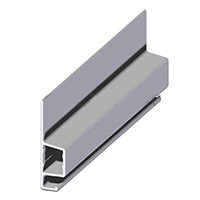.Szúnyogháló peremes alumínium keretprofil