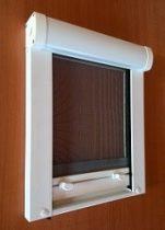 Műanyag keretes rolós szúnyogháló  (tetőtéri ablakra) fehér
