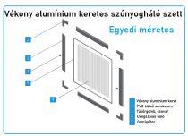 Egyedi méretes alumínium keretes szúnyogháló szett (7*17-es)