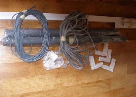 Szúnyogháló ajtó szett (20*40 alumínium keretes)
