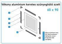 60*90-es alumínium keretes szúnyogháló szett (7*17-es)