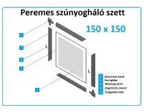 150*150-es alumínium keretes szúnyogháló szett (peremes)