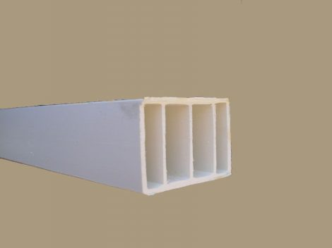 Műanyag kiemelő profil  (fehér) 35*50 mm
