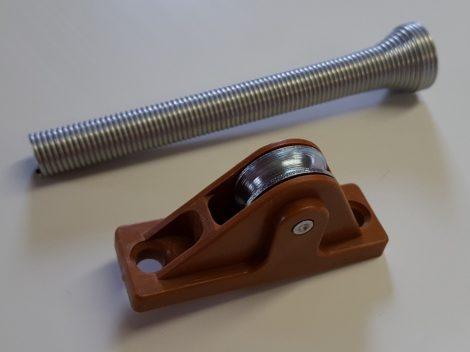 Redőnyzsinór bevezető fém görgős (aranytölgy)