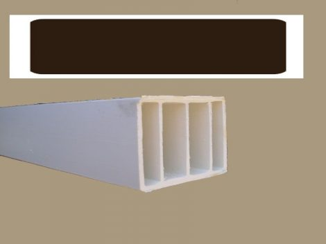 Műanyag kiemelő profil  (barna) 35*50 mm
