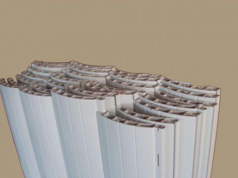 Maxi (50 mm) műanyag redőnyléc kötegelve  185-ös  (fehér)