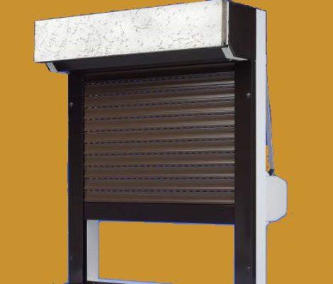 Vakolható tokos, szúnyoghálóval kombinált alumínium redőny RAL (választható színű) tok, lefutó