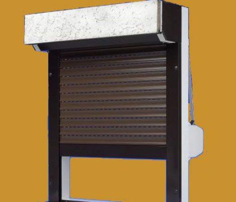 Vakolható tokos alumínium redőny RAL (választható színű) tok, lefutó