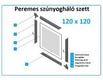 120*120-as alumínium keretes szúnyogháló szett (peremes)